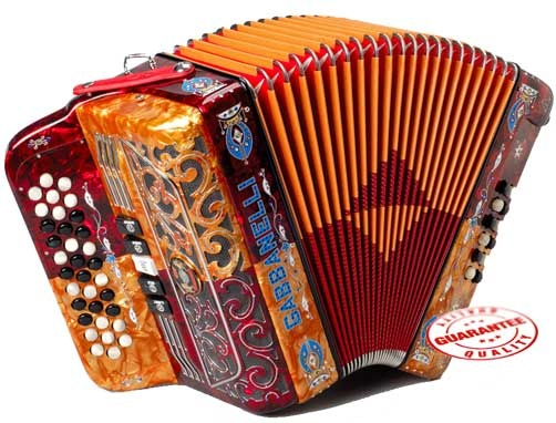 Gabbanelli 400 Diatonic accordion has 3 rows, 34 keys, 5 switches and more.