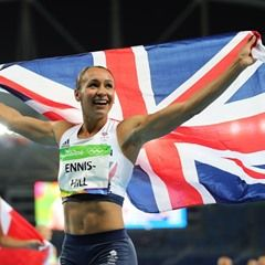 Jessica Ennis-Hill of Great Britain wins gold in the 800m Women's Olympic Heptathlon