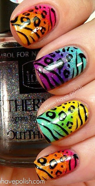 Cute colorful nail art