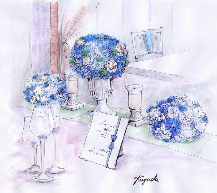Блог Юлии Каюды: Эскизы оформления свадьбы