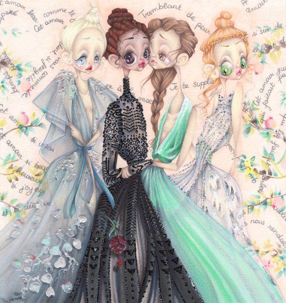 Valentino pop surrealism antiquity fashion illustration art print