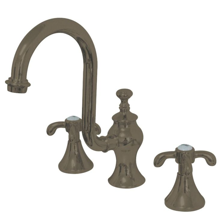 "Kingston Brass  KS7988TX French Country 8"" Widespread Lavatory Faucet with Brass Pop-Up, SN - Price: $399.95 & FREE Shipping over $99"