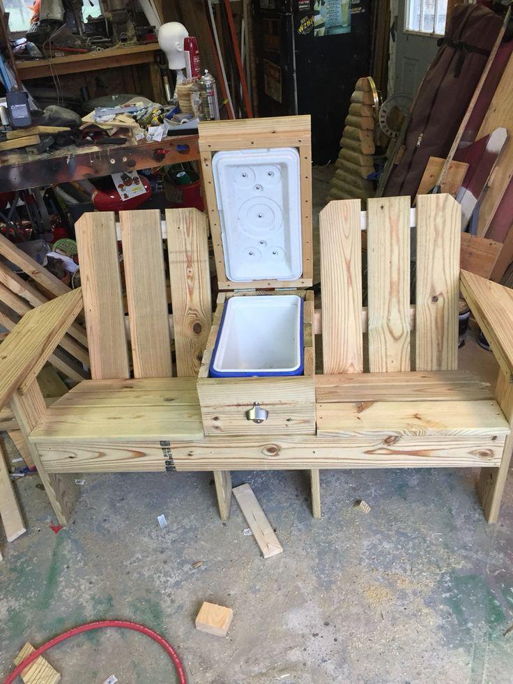 Open Cooler Insert Beer Wood Pallet Furniture