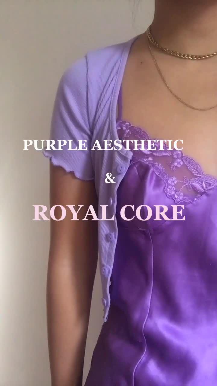 Allina Ai Allina Ai On Tiktok Purple Royal Core Fyp Foryoupage Lightacademia Purpleaesthetic Purple Prom Dress Aesthetic Clothes Wonderful Clothes [ 1280 x 720 Pixel ]