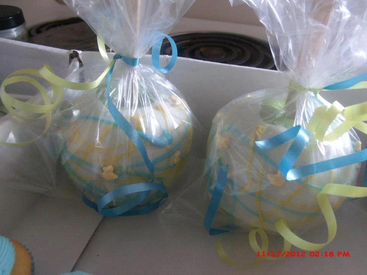 splish splash duck themed baby shower candy apples edible favors