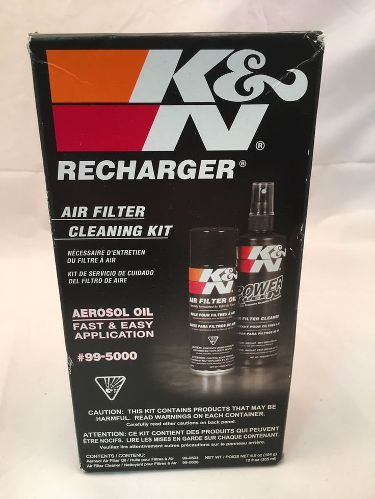 K & N Recharger Air Filter Cleaning Kit NEW UNOPENED fast shipping #KN