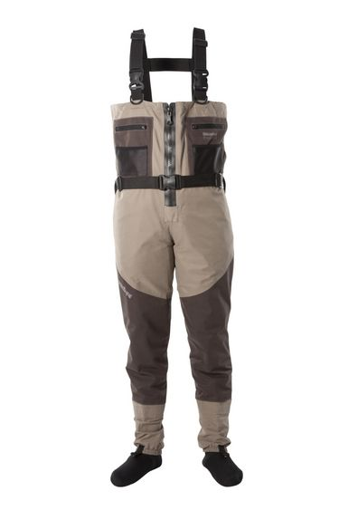 Prestige ST Stockingfoot Breathable Waders  Our Zip-Front model features a full length Riri front zip guaranteed to a pressure of 1.7 bar. These premium, Swiss made waterproof zips have proved to be totally reliable in the many years we have been making zip-front waders.... 4mm Neoprene socks are fitted to these waders for utmost comfort.