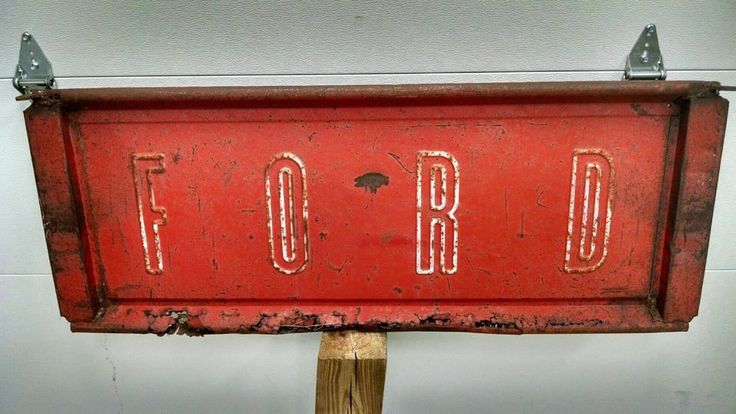 1957 1958 1959 1960 Ford F100 Styleside Tailgate Art Deco