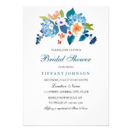 #elegant - #Elegant Blue & Peach Bridal Shower Invitation