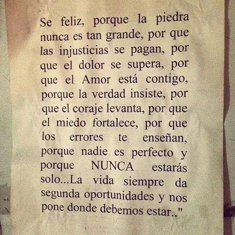 Se feliz...