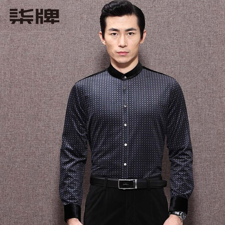 Well-made Formal Long Sleeve Stand-up Collar Shirt - Chinese Shirts & Blouses - Men