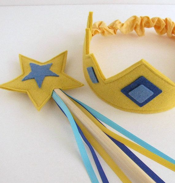 Wool Felt Crown and Wand by dreamchildstudio on Etsy, $30.00