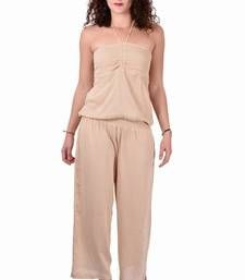 Buy Rayon Carf Plain Brown Color Jumpsuit other-apparel online