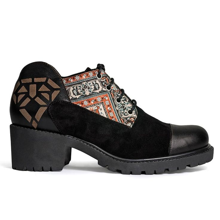 Short boots inspired by Persian culture. Made from natural black suede and…