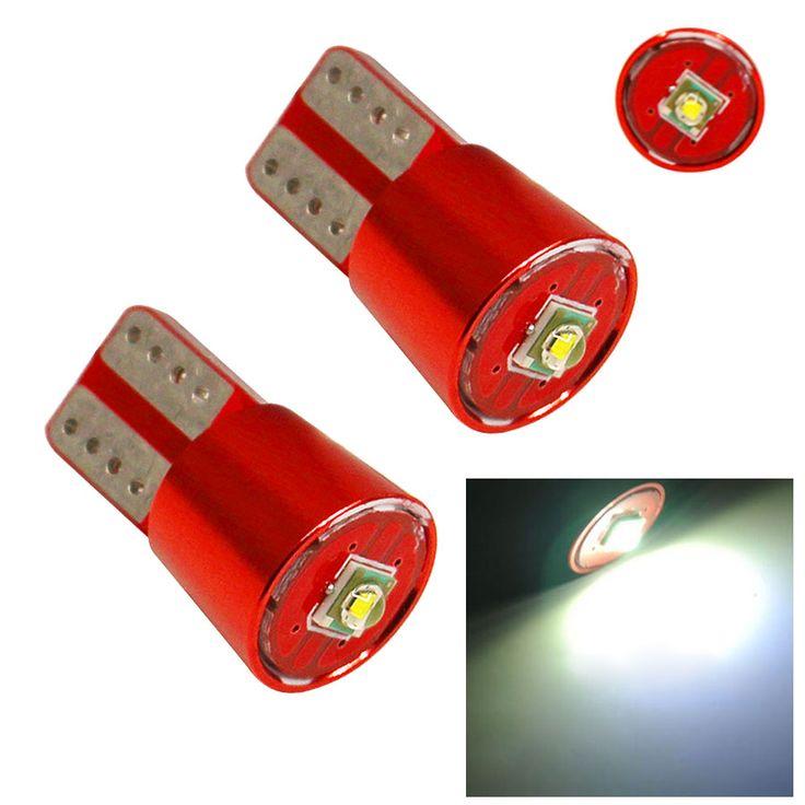 2 Unids Super Brillante T10 W5W Cree Chip Led Error Gratuito Fuente de Luz de la Cuña Interior Canbus Bombilla Blanca Para Coche DC 12 V