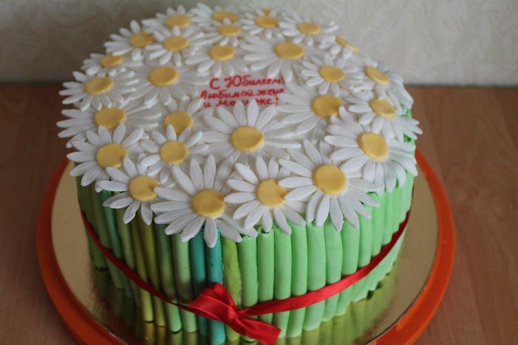 Букет ромашек #торт_на_заказ_николаев #день_рождения #бисквитный_торт #шоколадный_торт