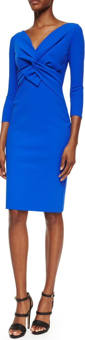 La Petite Robe di Chiara Boni Ilenia Twist-Front Sheath Dress