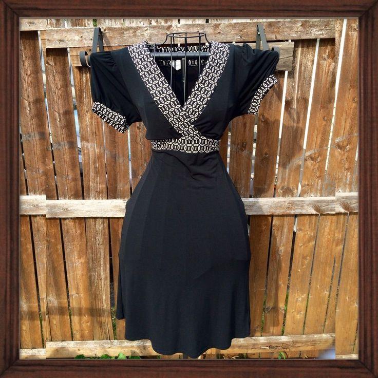Merona Black With White Trim Dress