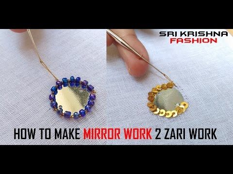 HOW TO MAKE AARI WORK AND ZARI WORK - PATCH WORK # PART 09 @ MAGGAM WORK - YouTube