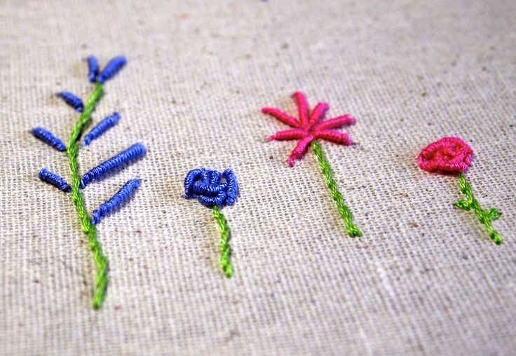 Hand Embroidery: Coil or Bullion Stitch
