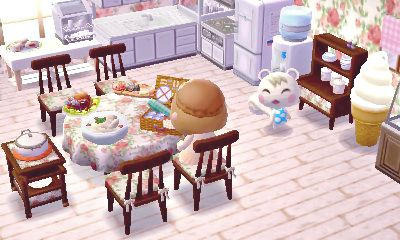 cute kitchen set up animal crossing new leaf pinterest