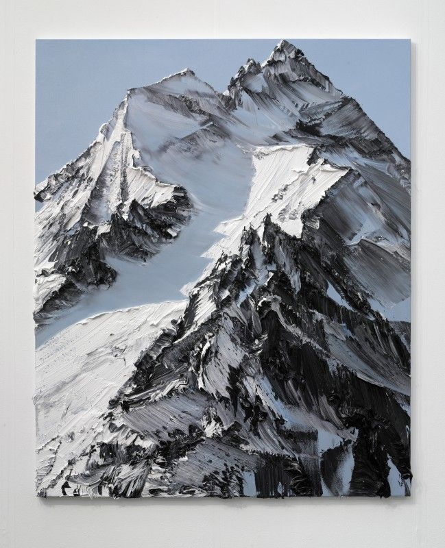 Des montagnes abstraites montagne abstraction pinceau 01 649x800