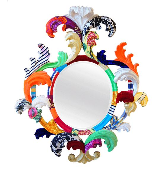 Colorful Baroque Wall Mirror