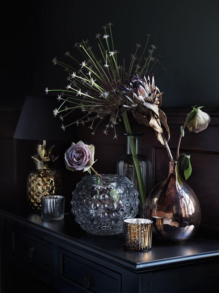 Dark and moody decor for the winter months Photography by Marcus Lawett & styling by Hans Blomquist for ÅHLÈNS