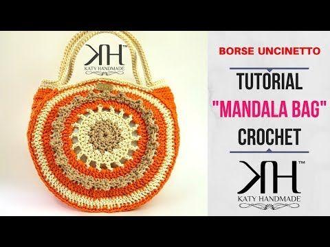 "TUTORIAL BORSA UNCINETTO ""Mandala"" - DIY CROCHET BAG ● Katy Handmade - YouTube"