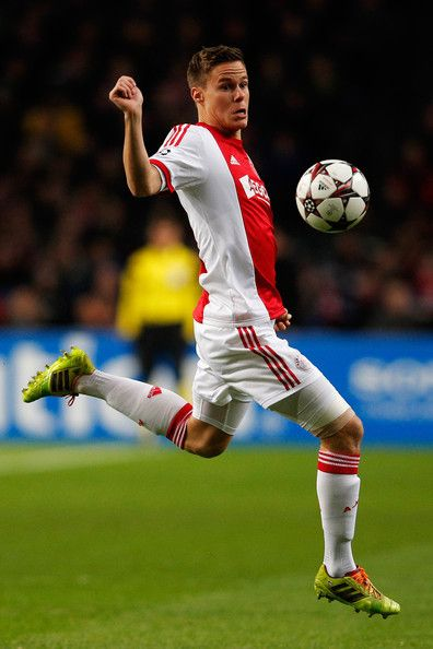 Niklas Moisander of Ajax in action during the UEFA Champions League Group H match between Ajax Amsterdam and FC Barcelona at Amsterdam Arena on November 26, 2013 in Amsterdam, Netherlands.