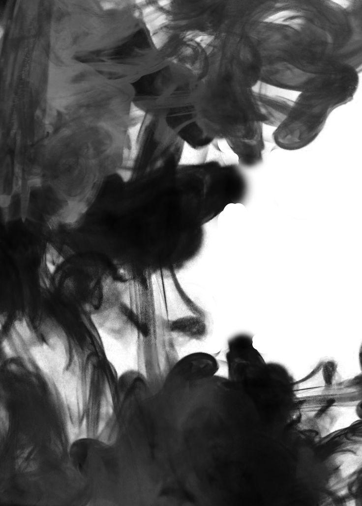 Dit is het resultaat van de ecoline, heb deze zwart gemaakt, zodat het de donkere kant, de donkere wereld, onze eigen wereld vertegenwoordigt