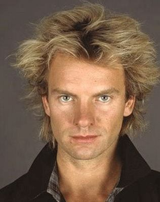 Sting. I can't say I am as gaga over him as I used to be but, boy, when I would see him shirtless in concert with those loose pants jiggling off his hips, well, it seemed to me that every little thing he did was magic.