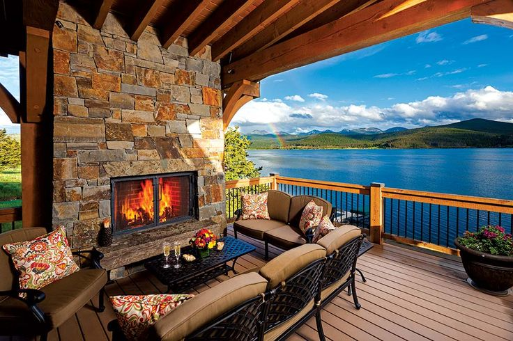Lakeside in the High Country: a beautiful waterfront setting serves as the backdrop for a Montana hybrid home.  Photos by: Karl Neumann