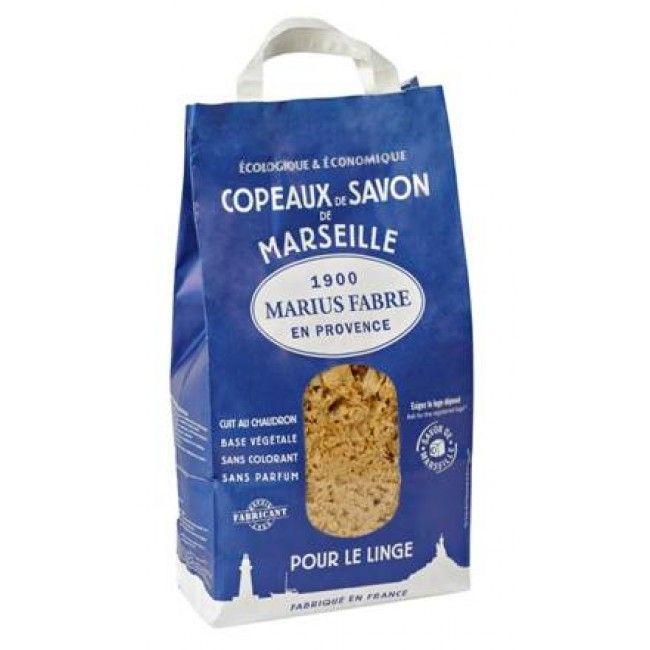 Savon de Marseille Marius Fabre en copeaux, Vente de sachet 980 g de copeaux de savon de Marseille