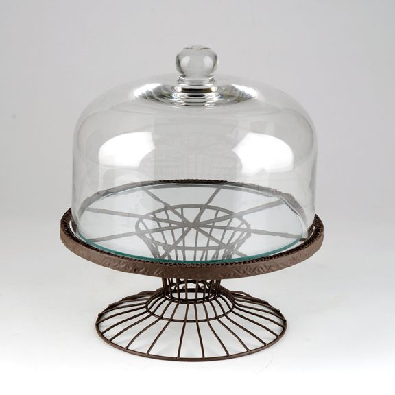 Cake Stand With Wire Dome