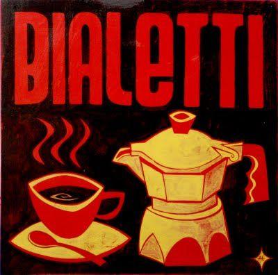 Vintage Italian Posters ~ #illustrator #Italian #posters ~ Bialetti by Aaron Eskridge