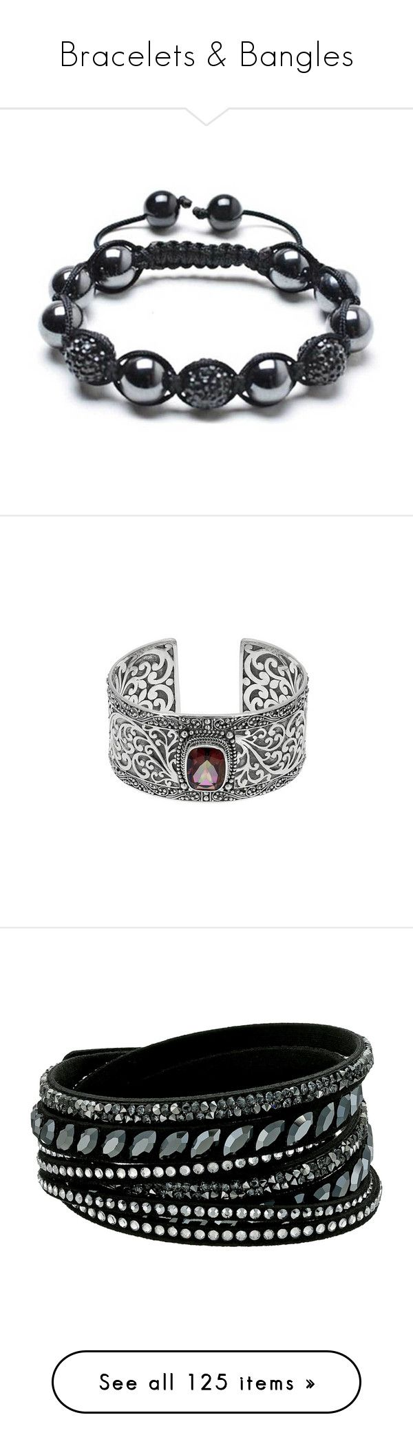 """Bracelets & Bangles"" by ashleythesm ❤ liked on Polyvore featuring men's fashion, men's jewelry, men's bracelets, black, bracelets, mens bead bracelets, mens stacked bracelets, mens cord bracelets, jewelry and silver cuff bracelet"