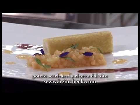 Cannolo di spigola croccante con insalata al melone e sedano - YouTube