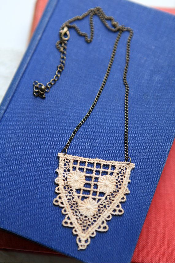 Lace Necklace by VintageDelightsShop on Etsy, £12.00