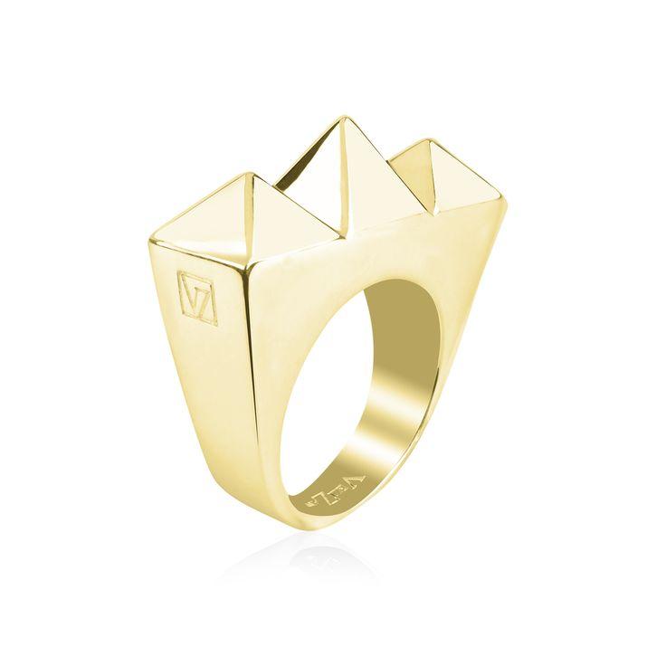 """Bague """"Tribus"""" - Vélizance - Argent doré  #Bijoux #Jewels #Silver #Gold #Design #Tendance #Bijou #FashionJewelry #Velizance"""