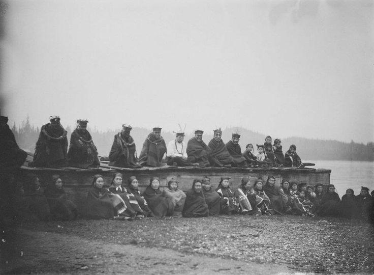 Kwakiutl group at Fort Rupert, British Columbia - 1894