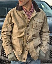 1816 by Remington's Barn Jacket is a classic men's jacket with durable canvas and flannel lined.