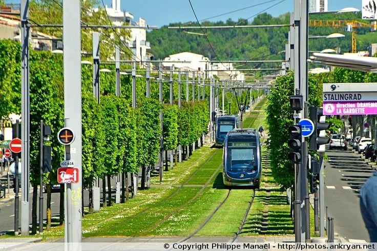 Tramway Ligne A, place de Stalingrad de Bordeaux (Aquitaine, Gironde)