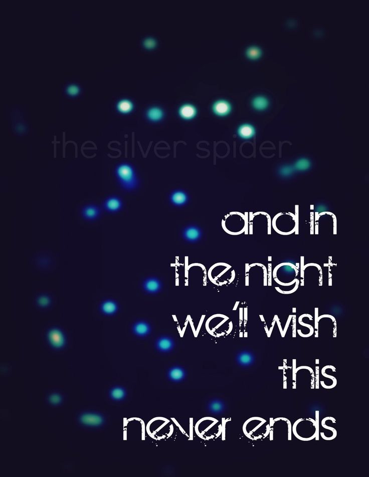 In the Night We'll Wish This Never Ends. - Miss You - Lyrics - Art Print - 8x10 - Blink 182.
