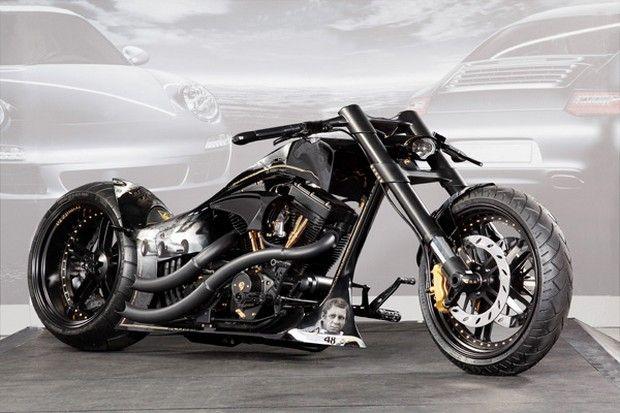 Custom-Wolf and Thunderbike design this tribute to Porsche