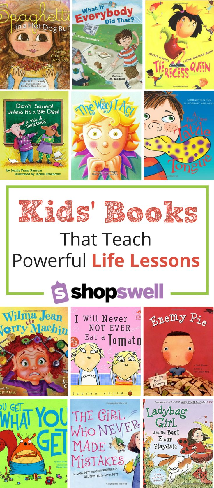 Kids' Picture Books that Teach Powerful Life Lessons - from bullying to picky eaters, these books cover a wide range of behaviors and concepts to work through with kids.