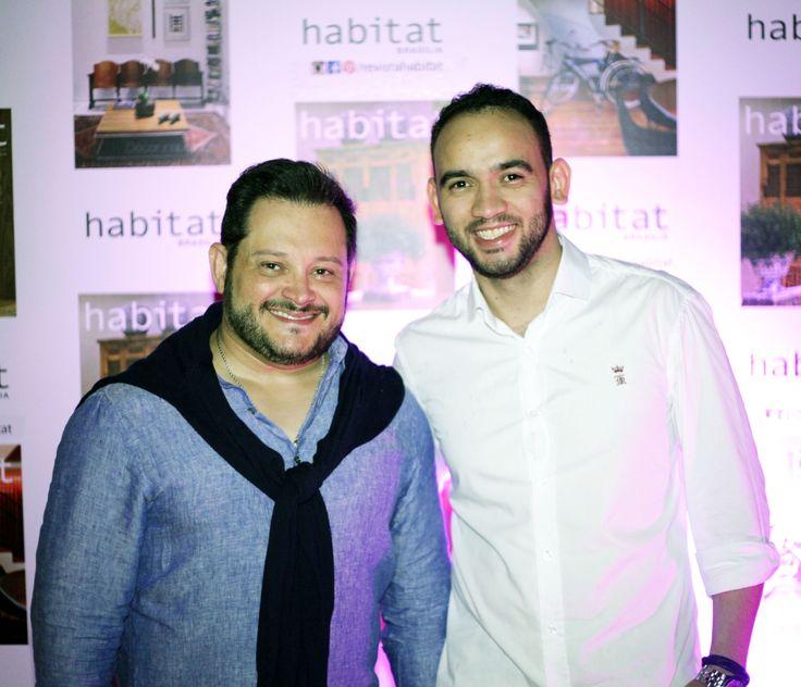 André Alf e Daniel Sousa na inauguração da Mostra Casa Viva. #casaviva #habitatnacasaviva