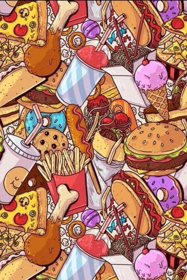 Papel de parede fofo de comida