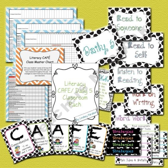 Daily 5/ CAFEDaily Cafes, Cafes Daily, Daily5 Caf, Daily 5 Cafes, Grade, Classroom Signs, Education Teaching, Classroom Ideas, Free Schoolstuff