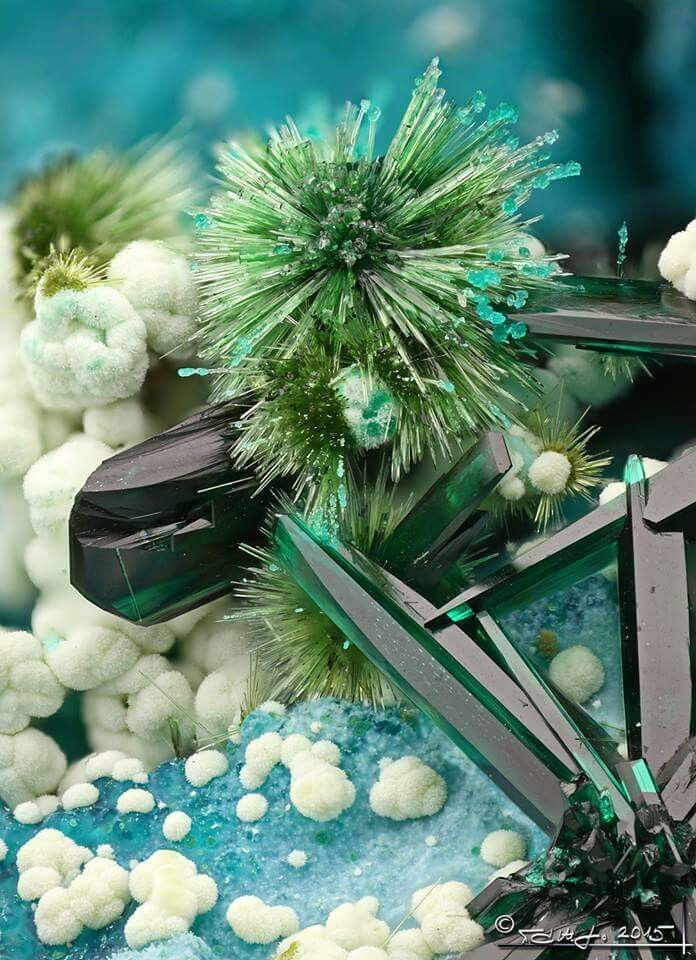 Beautiful Cu minerals